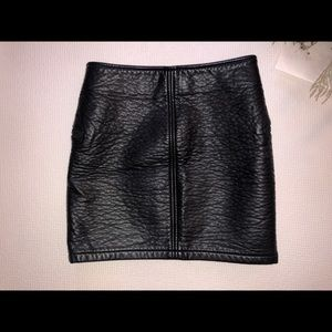 H&M Skirts - Faux Leather Zip front Leather Skirt